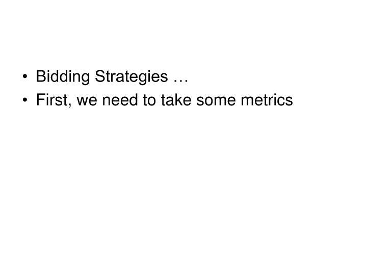 Bidding Strategies …