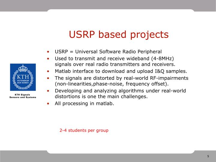 USRP based projects