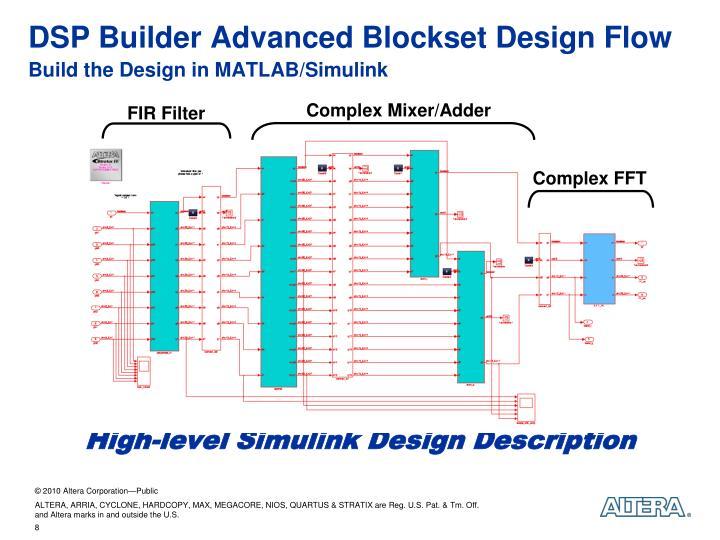 DSP Builder Advanced Blockset Design Flow