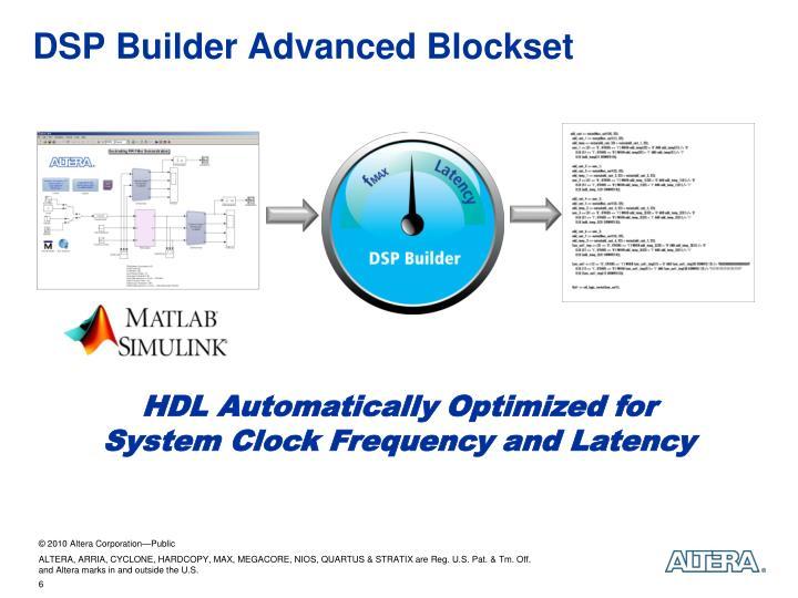 DSP Builder Advanced Blockset