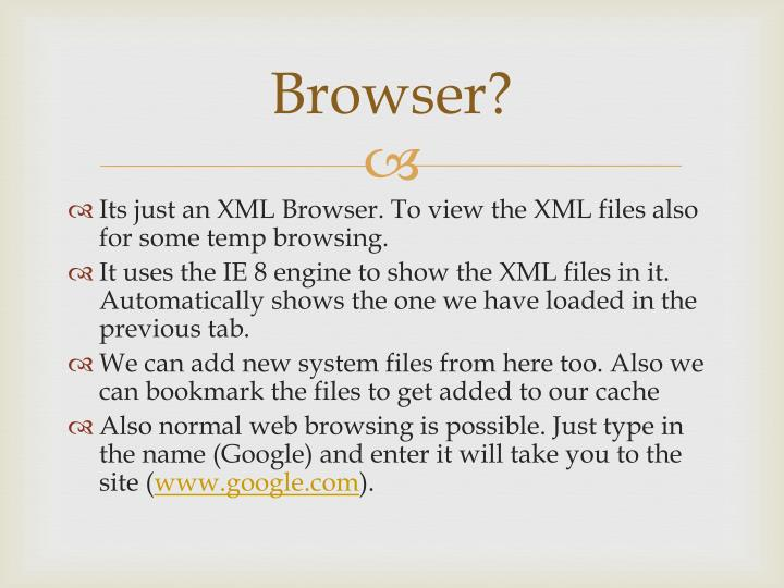 Browser?