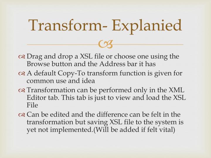 Transform-