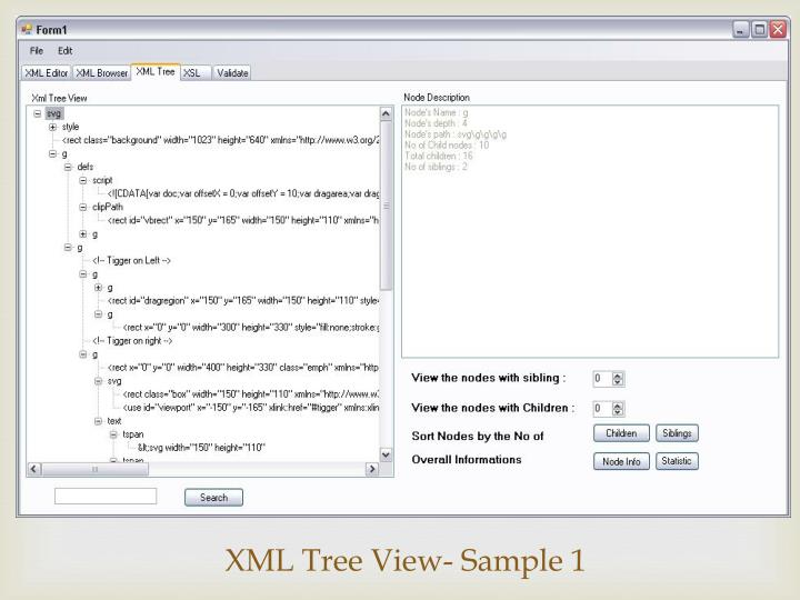 XML Tree View- Sample 1