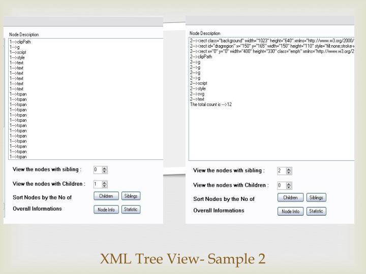 XML Tree View- Sample 2