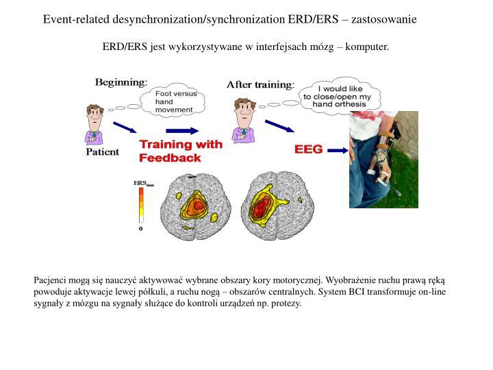 Event-related desynchronization/synchronization ERD/ERS – zastosowanie