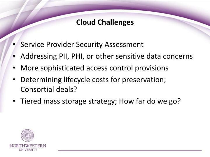 Cloud Challenges