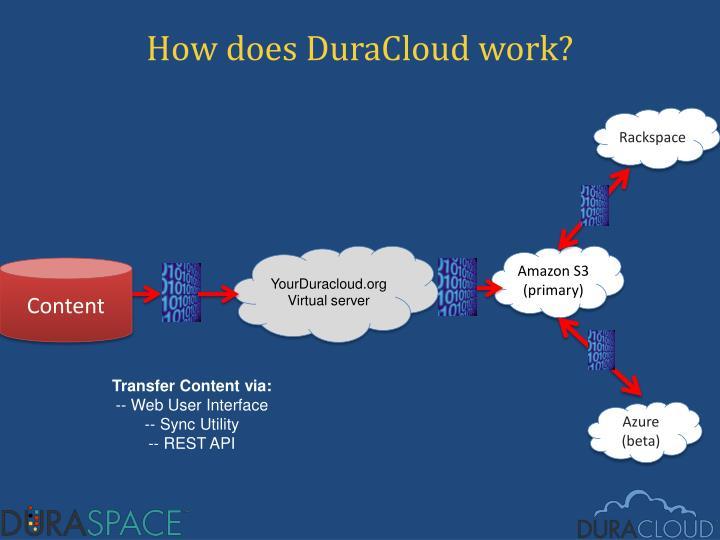 How does DuraCloud work?