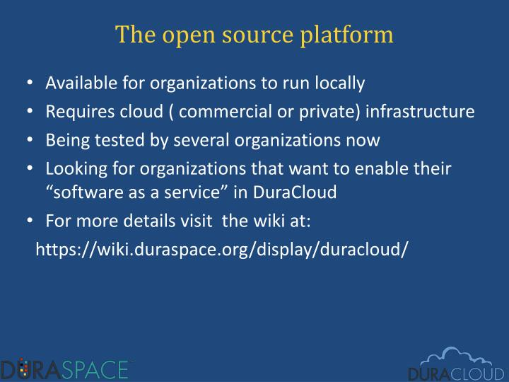 The open source platform