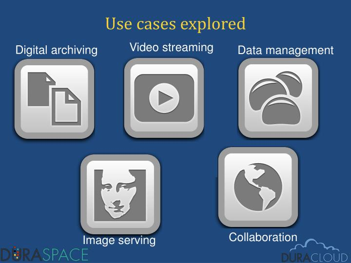Use cases explored