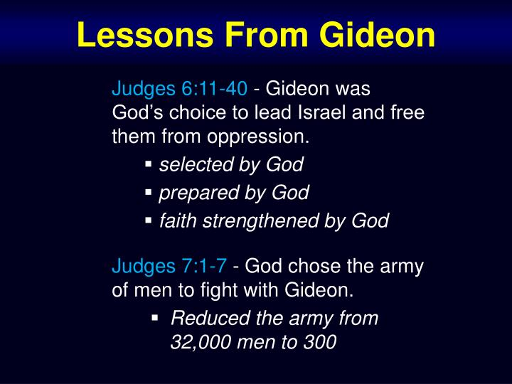 Lessons From Gideon