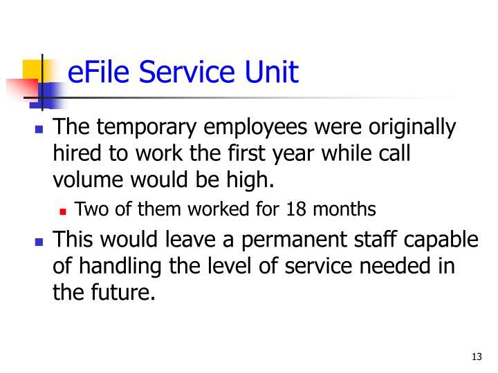 eFile Service Unit