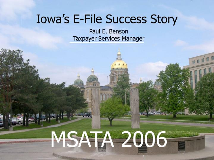 Iowa s e file success story