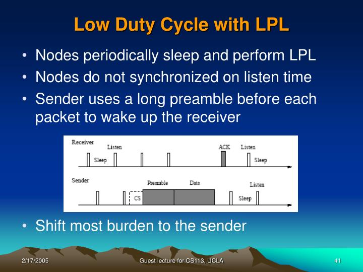 Low Duty Cycle with LPL