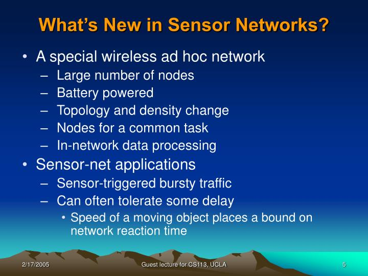 What's New in Sensor Networks?