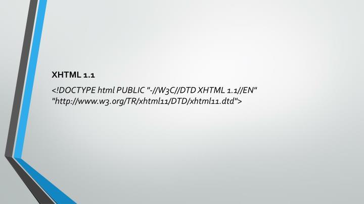XHTML 1.1
