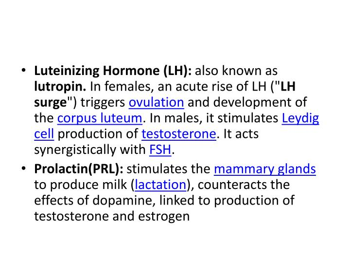 Luteinizing Hormone (LH):