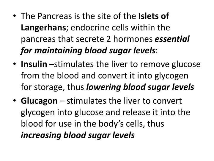 The Pancreas is the site of the