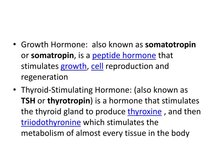 Growth Hormone:
