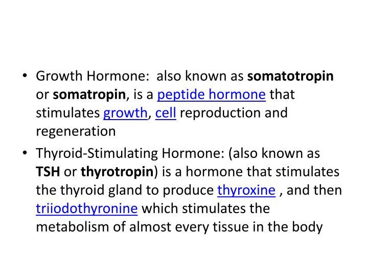 Growth Hormone: