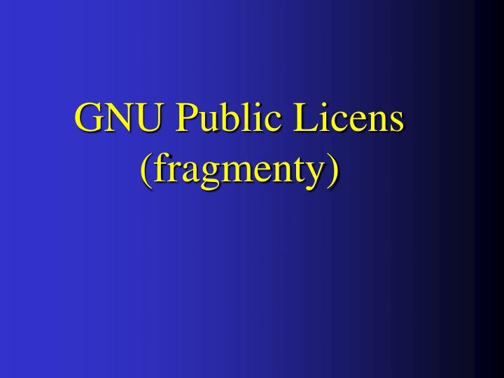 GNU Public Licens