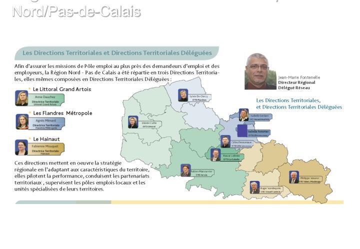 Organisation territoriale du Pôle Emploi