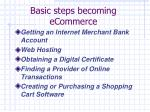 basic steps becoming ecommerce