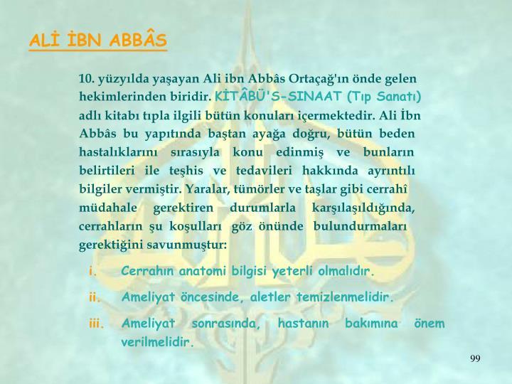 ALİ İBN ABBÂS