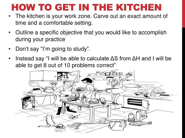 How to get in the kitchen