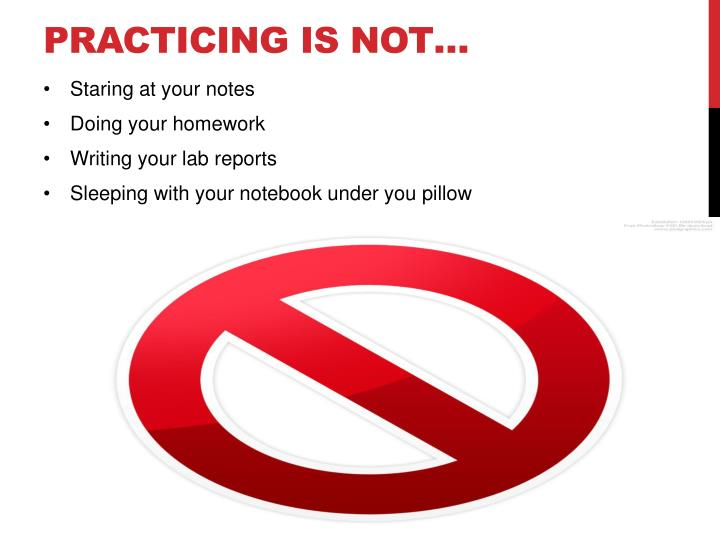 Practicing is not…