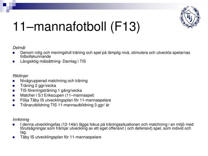 11–mannafotboll (F13)