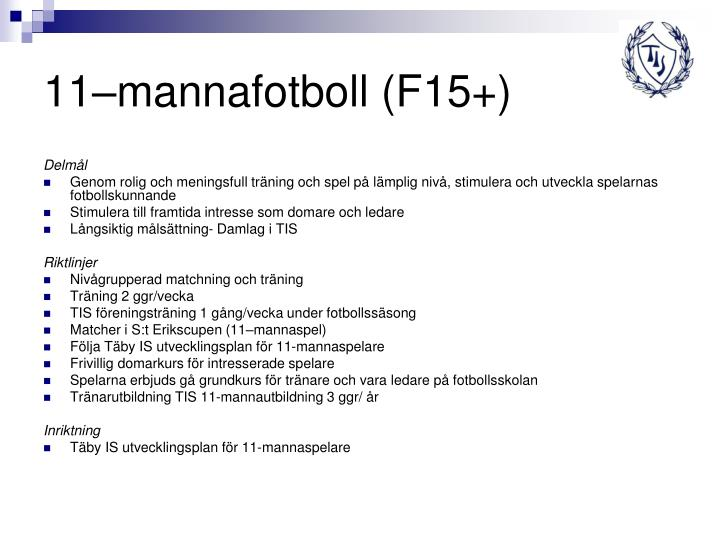 11–mannafotboll (F15+)