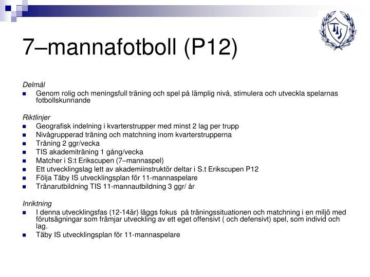 7–mannafotboll (P12)