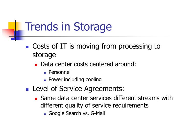 Trends in Storage