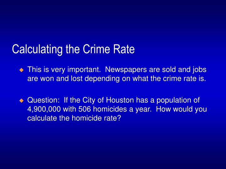 Calculating the Crime Rate