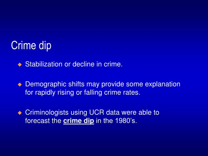 Crime dip