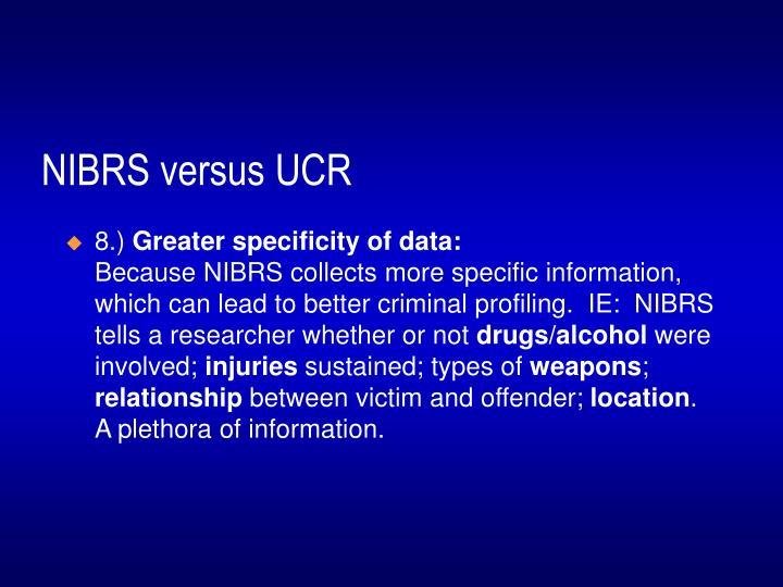 NIBRS versus UCR