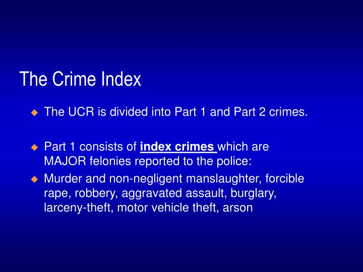 The Crime Index