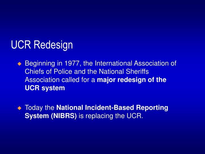 UCR Redesign