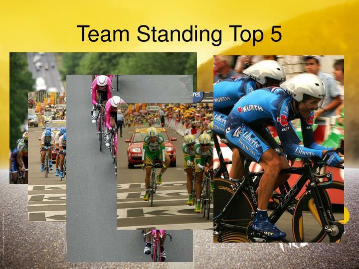 Team Standing Top 5