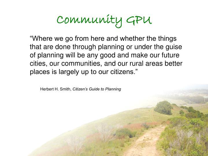 Community GPU