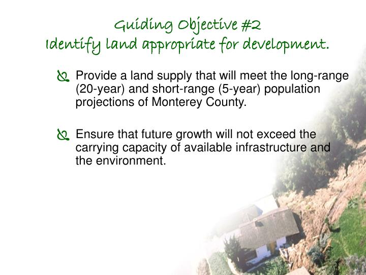 Guiding Objective #2