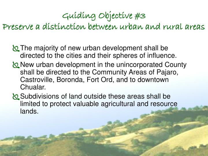 Guiding Objective #3