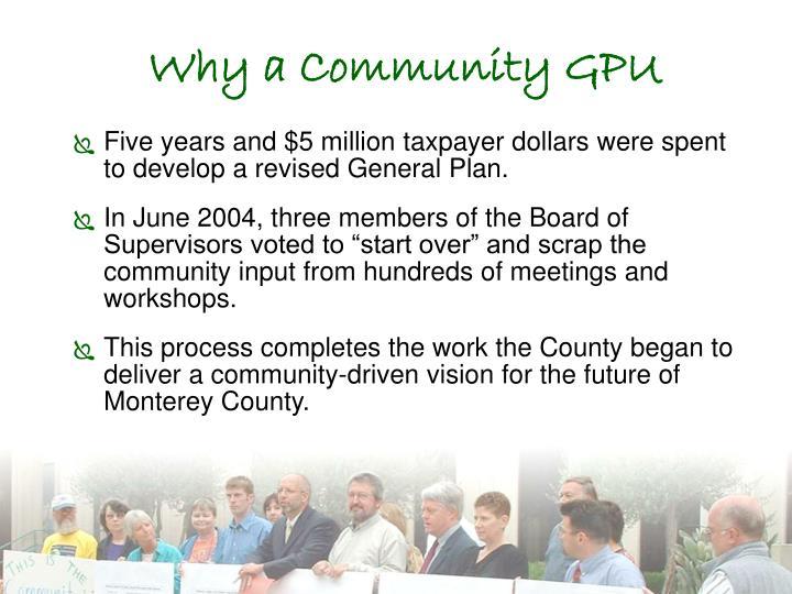 Why a Community GPU