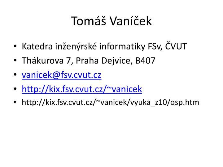 Tomáš Vaníček