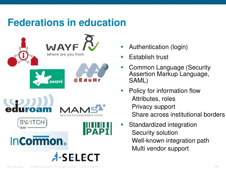 Federations in education
