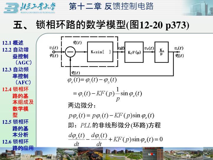 五、 锁相环路的数学模型