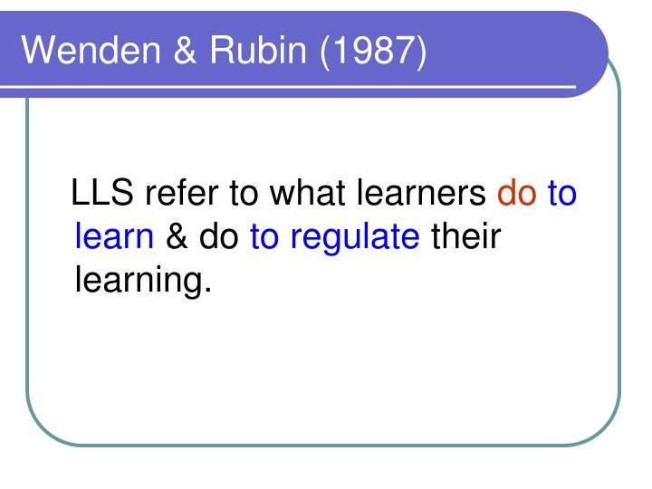 Wenden & Rubin (1987)