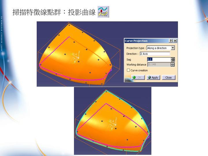 掃描特徵線點群