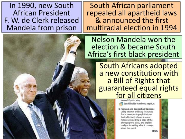 In 1990, new South African President