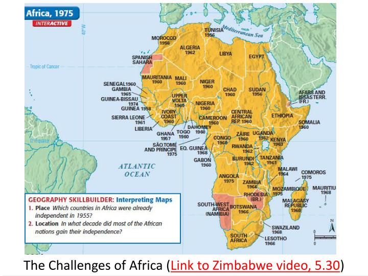 The Challenges of Africa (